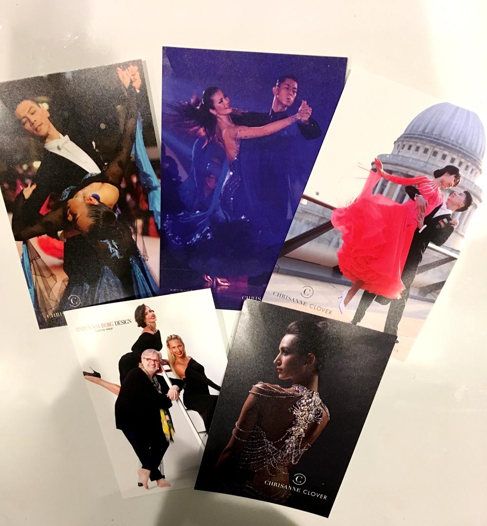スポンサードカップル3組とエスパンのカタログ写真をポストカードにした記念品をいただきました!