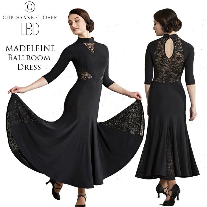 2018年LBD新作のクリスアンクローバーのマデリンボールルームドレス。
