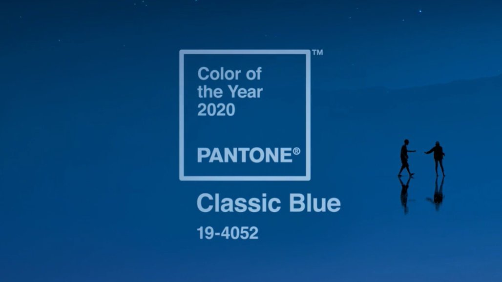 クラシックブルー(パントーン2020年の今年の色)