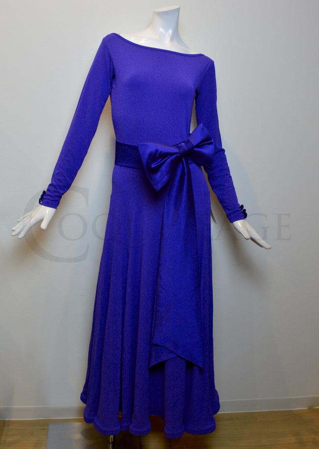 DSIロンドン リボンベルトドレス(サファイア色)